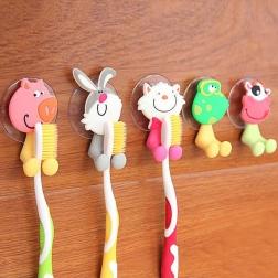 """Держатель для зубной щетки на присоске """"Забавные животные""""                                                                                         (Название : Цветок  )"""