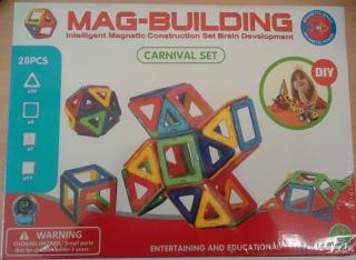 Магнитный конструктор MAG BUILDING, 28 деталей                                                                                         (Наименование: Магнитный конструктор MAG BUILDING, 28 деталей  )