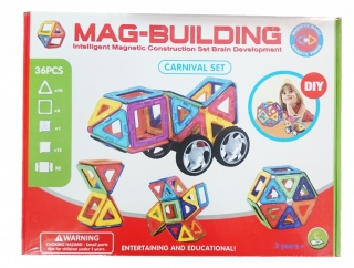 Магнитный конструктор MAG BUILDING, 36 деталей                                                                                         (1: -  )