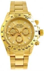 Часы наручные Rolex Daytona кварцевые (Реплика)                                                                                          (Цвет корпуса: Золотой,  Цвет циферблата: Золотой)