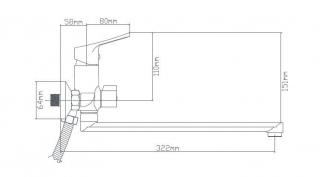 B8290-18F Смеситель для ванны из латуни, ø35