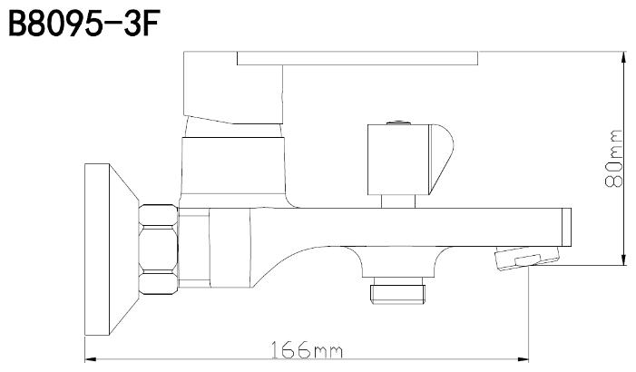 B8095-3F Смеситель для ванны из Латуни, ø30_1