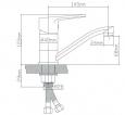 Смеситель для кухни BOOU B8282-14A из латуни, ø40_1